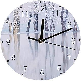 DIY ساعة حائط ساعة حائط ، ساعة حائط حديثة ، ساعات عملية لغرفة النوم وغرفة المعيشة (مشهد (رقم 1))