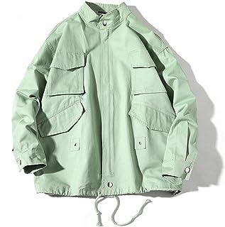 TAOHUA スプリングコート 春物 メンズ ジャケット 復古 カジュアル コート アウター