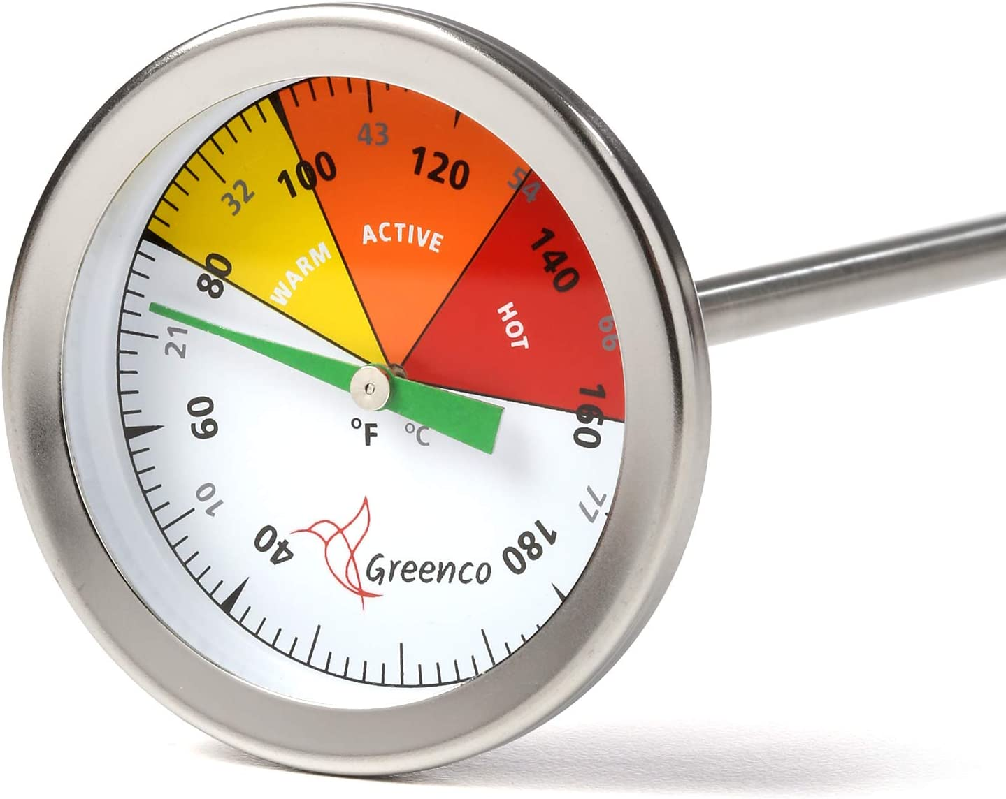 Compost Soil Thermometer by Greenco Celsius Direct store an Steel At the price Stainless