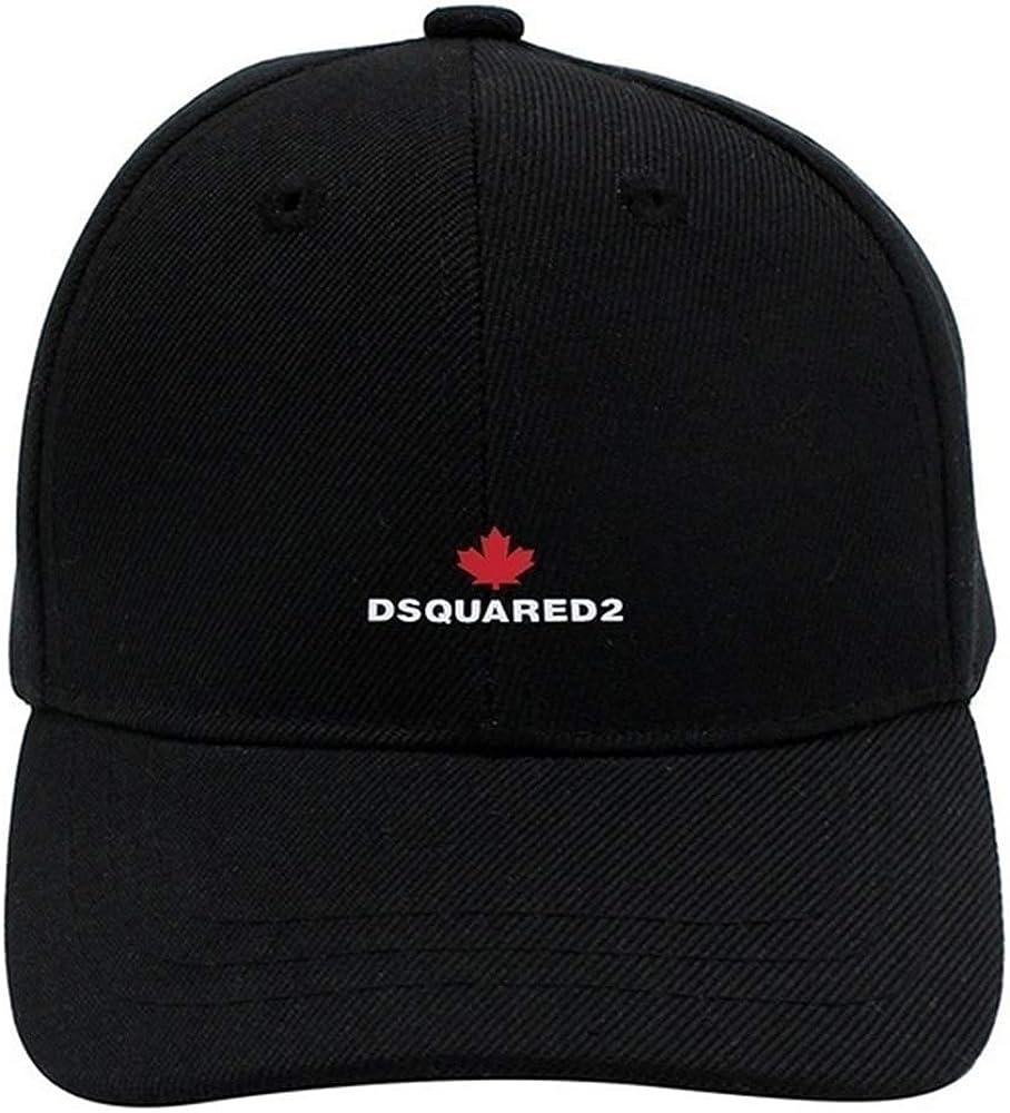 Zahhdasd Dsquared 2 Logo Adjustable Unisex Baseball Cap Casual Hat Black
