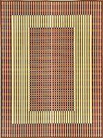 萩原 国産い草センターラグ ブラウン 約191X250cm 特殊掛川織 「築彩」