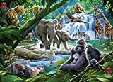 Ravensburger Jungle Families 100 Piece Jigsaw Puzzle with Extra Large Pieces for Kids Age 6 Years & Up