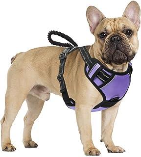 Pawaboo Dog Harness, Lightweight Comfortable Soft Padded Vest Reflective Oxford Harness Adjustable No Pull Pet Dog Mesh Ea...