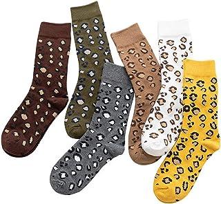 Bocotoer, Pack de 6 medias medias medias con estampado animal para niñas para entrenamiento y casual