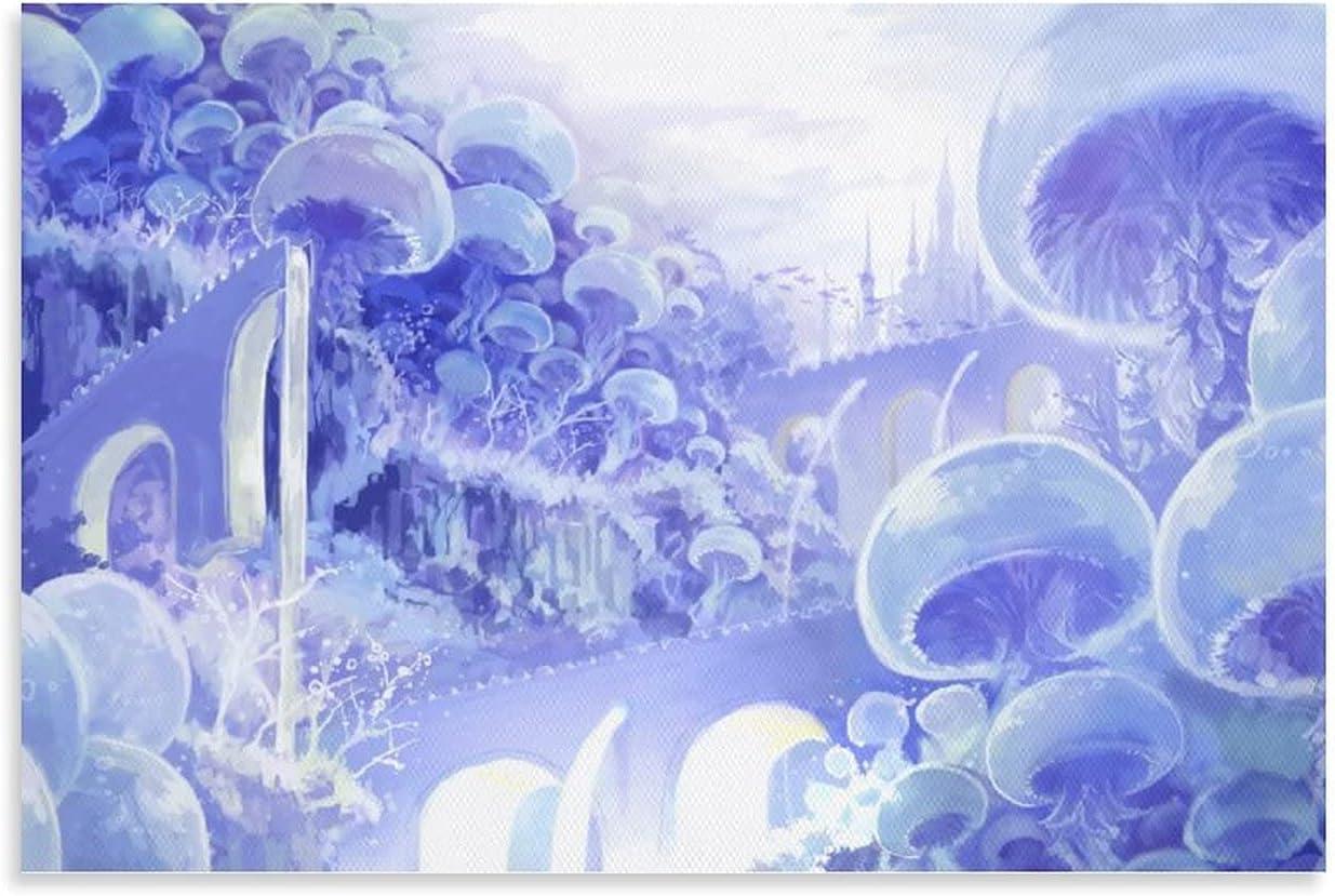 16x24inch 40x60cm Max 89% OFF Simple Art Oil Decor Painting SALENEW very popular! World Jellyfish