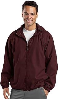 Sport-Tek Hooded Raglan Jacket, Maroon, 3XL