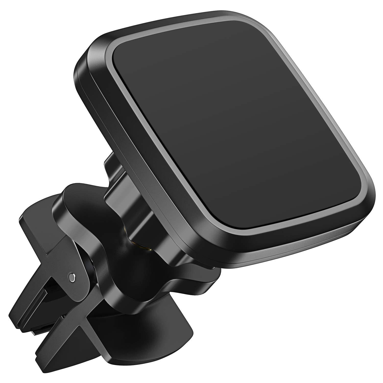 Bovon Soporte Móvil Coche Magnético, Soporte Smartphone para Coche de Rejillas de Ventilación con 360 °Rotación y Ajustable Base para 3.5