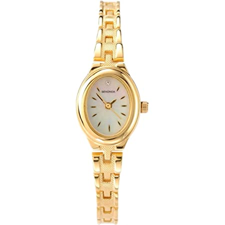 SEKONDA Women's Quartz Watch with Mother Of Pearl Dial Analogue Display and Gold Alloy Bracelet 4547.2700000000004