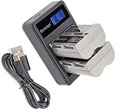EN-EL3E Battery Bonadget 2000mAh EN-EL3 EN-EL3a Replacement Battery and LCD Dual Charger Compatible with Nikon D700 D90 D300S D300 D200 D80 D50 D70S D70 D100 D900 Digital Cameras(2 Pack)