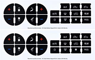 EcoAuto AC Dash Button Replacement Decal Stickers (Pack of 2) for Select GM Vehicles - AC Control & Radio Button Sticker Repair Kit - Fix Ruined Faded A/C Controls