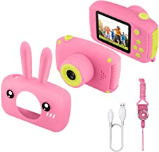 Etpark Kids Camera, Digital Camera 2.0 inch for Children with 12MP HD 1080P Video Recorder & Lanyard Anti-Drop Design Mini SLR Supports Small Games USB Transfers Boys Girls Creative gifts