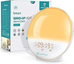 HeimVision Sunrise Alarm Clock, A80S Smart Wake up Light Work with Alexa, Sleep Aid Digital Alarm Clock with Sunset Simula...