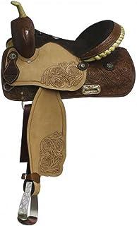 "Double T 14"", 15"", 16"" Barrel Style Saddle.semi Quarter Horse Bars"