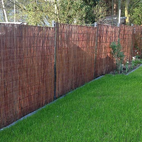 ZDY Willow Fence Mat/Garden Privacy Screen/Willow Screening Mat/Willow Wind Breaker y Screening Fence para Jardines, Balcones, terrazas.