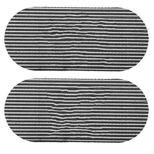 2 piezas de calcomanías mágicas para el cabello con tallado retro, almohadilla para peluquería, pinza para el cabello, con flecos, para mujeres, hombres, salón y peluquería(Negro)