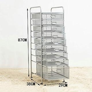 SOAR Cajoneras 9 rejilla de la cesta de rack archivo A4 el arte del hierro de 9 capas de clasificación titular de archivo...