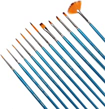 Fine Detail Paint Brush Set -12 Miniature Brushes for Detailing & Art Painting - Acrylic, Watercolor, Oil - Models, Airplane Kits, Nail Painting