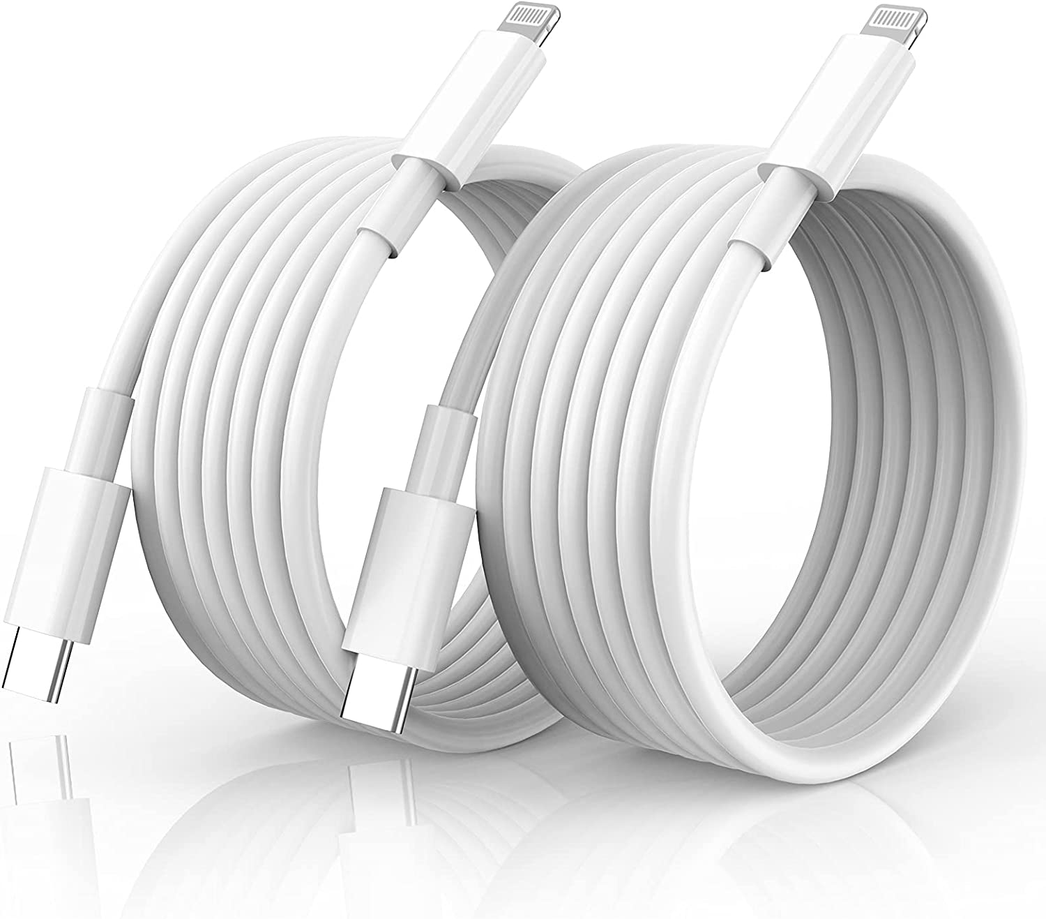 USB C to Lightning Cable 10FT, 2 Pack [MFi Certified] iPhone Fast Charger Cord, Lightning to Type C Charger Cable for iPhone 13/13ProMax/13Mini/iPhone12 Mini/12 Pro/Max/11 Pro/XS/8Plus/iPad/AirPods.