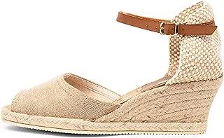 diana ferrari Tressa Black Canvas Womens Shoes Espadrilles High Heels