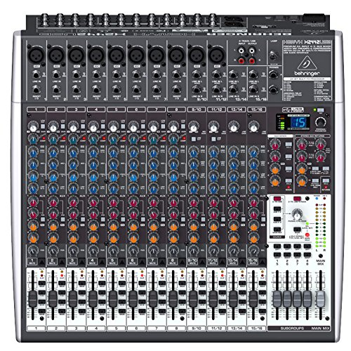 Behringer XENYX X2422USB 24-Kanal 4/2 Bus Mischpult mit XENYX Mic Preamps, 1-knob Kompressoren, 24-bit Multi-FX und USB Audio Interface