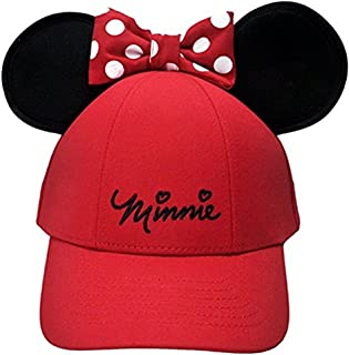 Disney Womens Minnie Mouse Cap with Bow & Ears Red