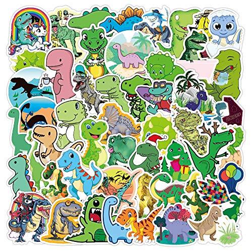 DSSJ 50 Pegatinas de Grafiti de Dinosaurio pequeño y Bonito, Maleta Impermeable, portátil, Scooter, Nevera, Taza de Agua, Pegatinas
