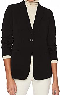 Lark & Ro Women's Blazer Black US Size 16 Single Button Notched-Collar