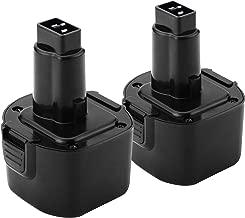 Creabest 2Pack 3.5Ah Ni-MH for Dewalt 9.6 Volt Battery DW9062 Dw9061 DW926 DC750KA DW955K DW955 DW926K-2 DW926K DW902 DW050 DE9062 DE9061 DE9036 DW955K-2 DW050K Black & Decker PS120