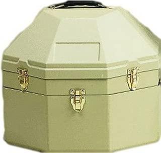 M&F Western Double Cowboy Hat Can Hard Plastic Case Tan 01510