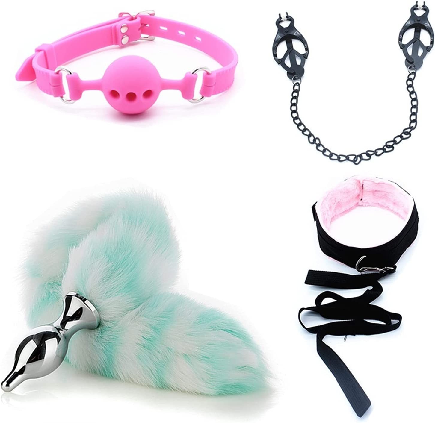 Bluoier 4 Pieces Set New Soft Fox Pl Ears Btt Max 82% OFF Plush Tail OFFer cat Sui