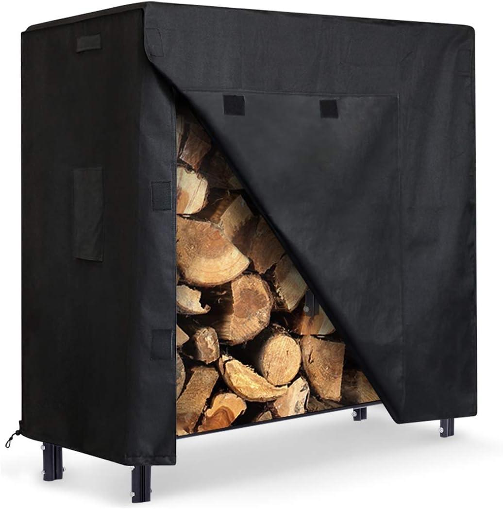 ZNCMRR Firewood Log Rack Cover 4 Oxford 600D Ou Heavy Feet Duty Colorado Springs Mall Portland Mall