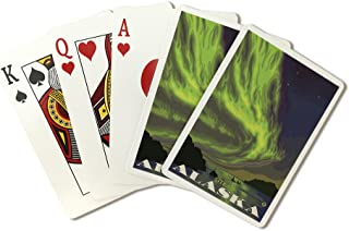 Sitka, Alaska - Northern Lights and Orcas (Playing Card Deck - 52 Card Poker Size with Jokers)
