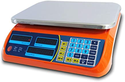 Kitchen Scale Digital Commercial Postal Shop Electronic Weight Scales Food 40KG