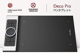 XP-Pen ペンタブ 携帯・スマホで使える傾き検知機能付きペンタブ 筆圧8192 充電不要ペン PC:Windows7以上&Mac10.10以上対応 携帯:Android6.0以上対応 ペンタブDeco Pro Small