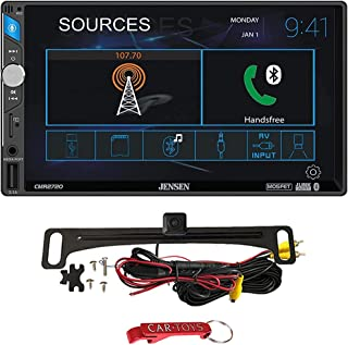 "$139 » Jensen CMR2720 7"" Car Stereo Safe Driver's Bundle with ACAM4 Backup Camera. 2-DIN Digital Media Receiver, Capacitive Touch..."