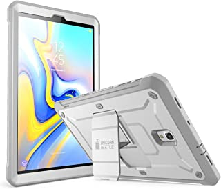 SupCase Unicorn Beetle Pro Series Case Design for Galaxy Tab A 10.5, with Built-in Screen Protector Kickstand Hybrid Case for Samsung Galaxy Tab A 10.5 (SM-T590/T595/T597) 2018 Release (White)