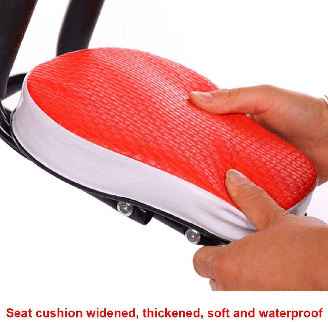FenglinTech Kids Bike Seat, Child Safety Carrier Front Baby Bike Seat with Armrest, Foot Pedals, Back Rest, Guardrail and Supporting Point