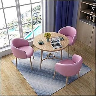 Table de salle à manger, 1 table 3 chaises de loisirs pour café, dessert, thé, bureau, salle de réception, salon de 80 cm...