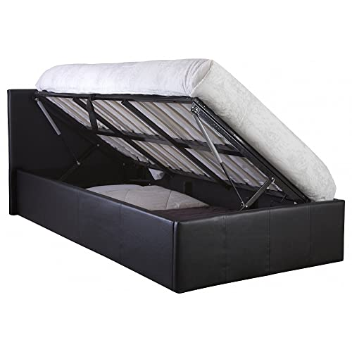 faae7f921ec2 The Side Lift Ottoman Storage Bed (3ft Single, Black)