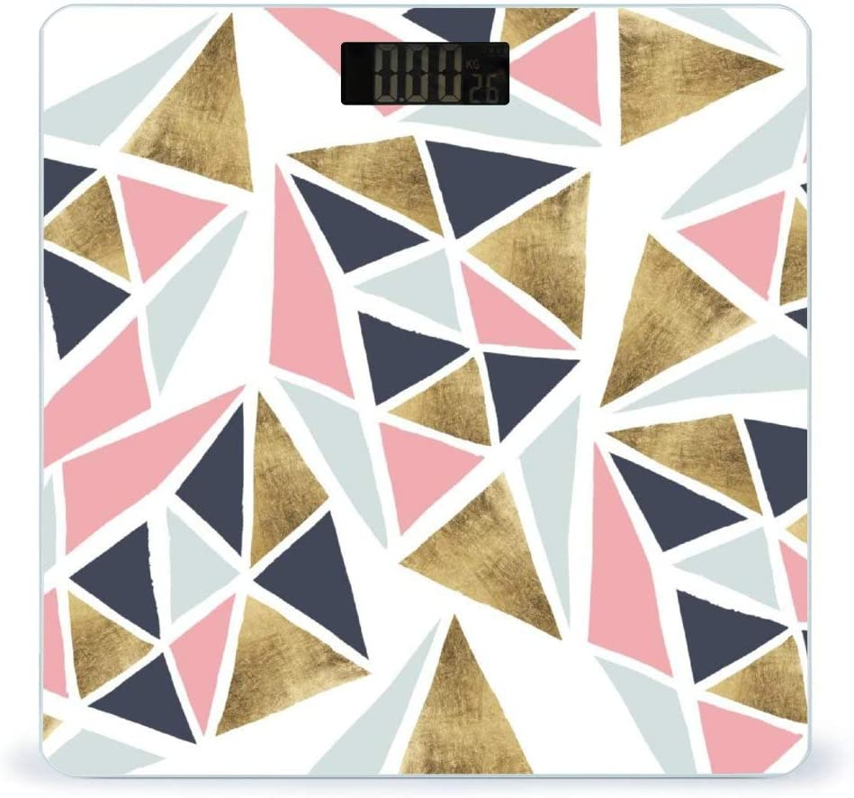 CHUFZSD Modern SEAL limited product Geometric Pink Navy Blue Highly Gold Super popular specialty store Ac Triangles