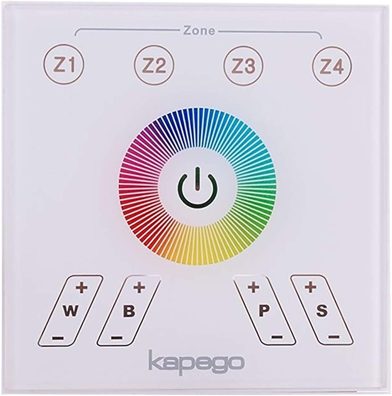 Touch-Controller zur Wandmontage, LED RGBW RF 4 Zonen 4CH 12 Effekte