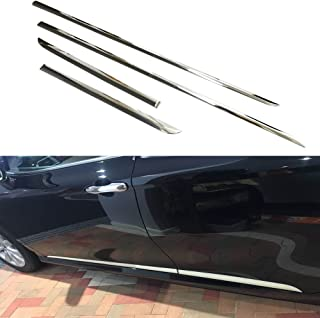 Beautost Fit for Toyota Camry 2018 2019 Body Side Door Moulding Trim Overlay Cover Trims Chrome