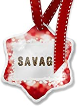 Diuangfoong Christmas Ornament Savage Cheetah Cat Animal Print, red