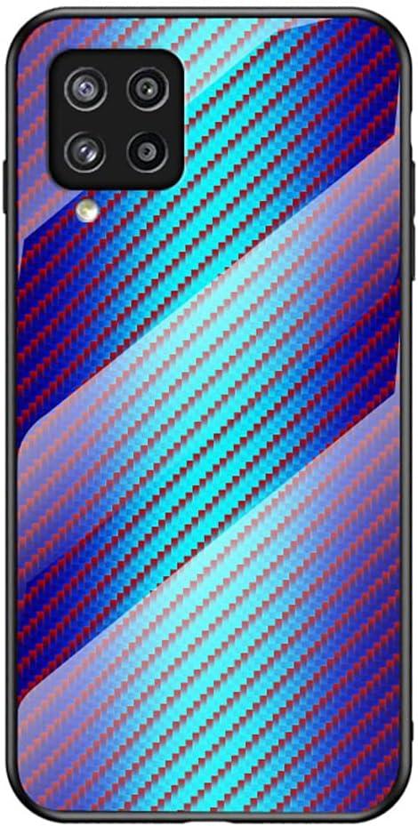 جراب SHUNDA لهاتف Samsung Galaxy M42 5G، جراب واقي من البولي يوريثان اللدن بالحرارة فائق النحافة مصنوع من ألياف الكربون لهاتف Samsung Galaxy M42 5G 6.6 بوصة - أزرق