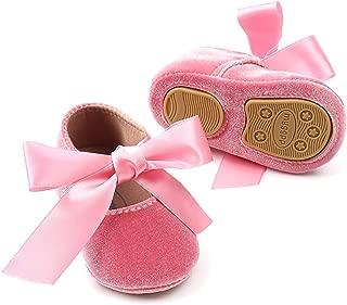 Baby Girls Mary Jane Shoes Toddler Soft Sole Anti-Slip Princess Baptism Crib Dress Shoes