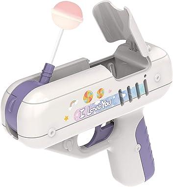 Darkduke Lollipop Gun Candy Gun Toy, Kids Candy Toy Lollipop Storage Gun Sugar Lollipop Gun Sweet Toys Novelty Surprise Ideas