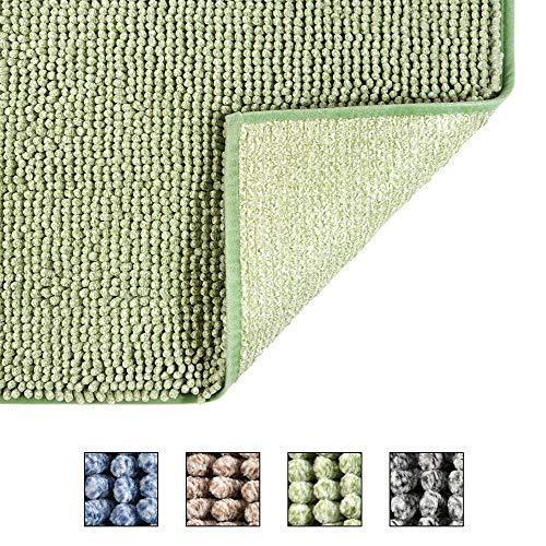 COSY HOMEER 50X80cm Badteppich aus 100% Polyester Extra weiche und rutschfeste Badezimmermatten, spezialisiert auf maschinenwaschbare und wasserabsorbierende,grün