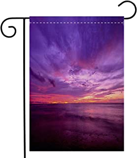 BEIVIVI Custom Double Sided Seasonal Garden Flag Sunset at Thap Tawan Beach Phang NGA Province Garden Flag Waterproof for Party Holiday Home Garden Decor