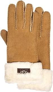 Women's Turn Cuff Water Resistant Sheepskin Gloves Chestnut SM