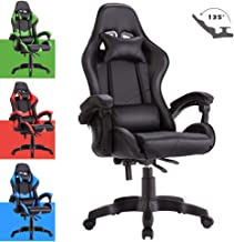 Advwin Gaming Chair Racing Style, Ergonomic Design Reclining Executive Computer Office Chair, Relieve Fatigue Black(60 * 60 * 115-125cm)